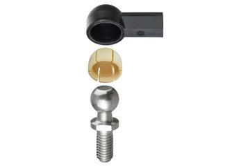 Angled ball and socket joint, WGRM, with steel pins, igubal®