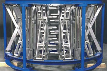 Calibration basket in a blown film line